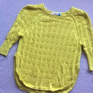 Anthropologie Sparrow Yellow Knit Pullover Sweater